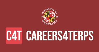 C4T Careers For Terps logo with Maryland globe