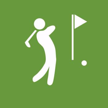 Golfer Teeing Off Graphic