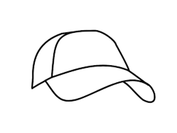 Golf Hat Simplified Line Drawing