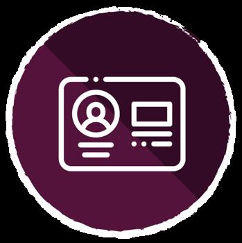 Membership Icon with ID Card Image